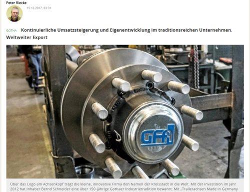 Gothaer Fahrzeugachsen-Hersteller verdoppelt seine Mitarbeiterzahl